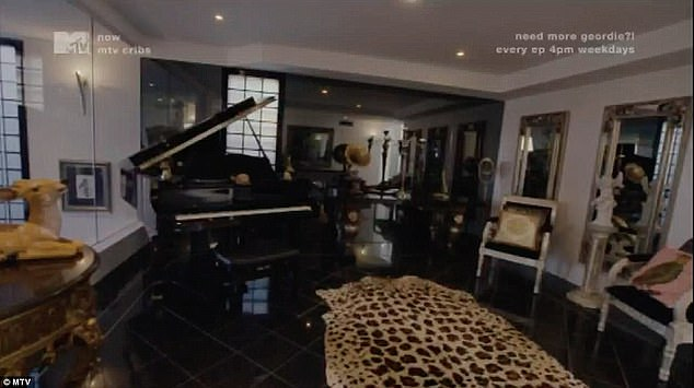 That's different!The home's elegant decor is world's away from the Mosman mansion once shared with Imogen Anthony - which included animal skin rug and a life-size giraffe statue (pictured)