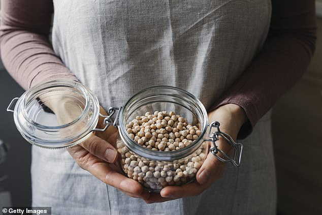 Preston said making hummus is a process that requires soaking, rinsing, cooking and blitzing large Ord River chickpeas (stock image)