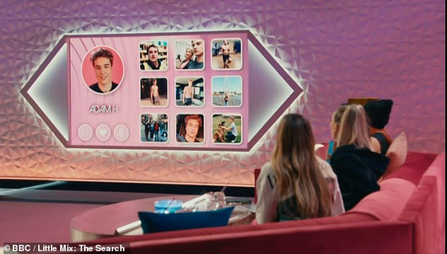 High tech! Ahead of each hopeful auditioning for Little Mix a 'social screen' would show some of their pictures and a video