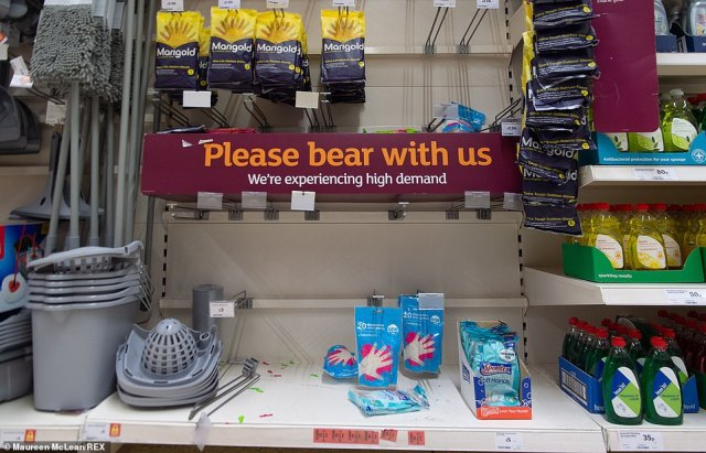 Products have been flying off the shelves at this Sainsbury's store in Taplow, Buckinghamshire