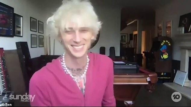 He's a fan!Machine Gun Kelly (pictured) has revealed his favourite Australian star - notorious party boy Corey Worthington