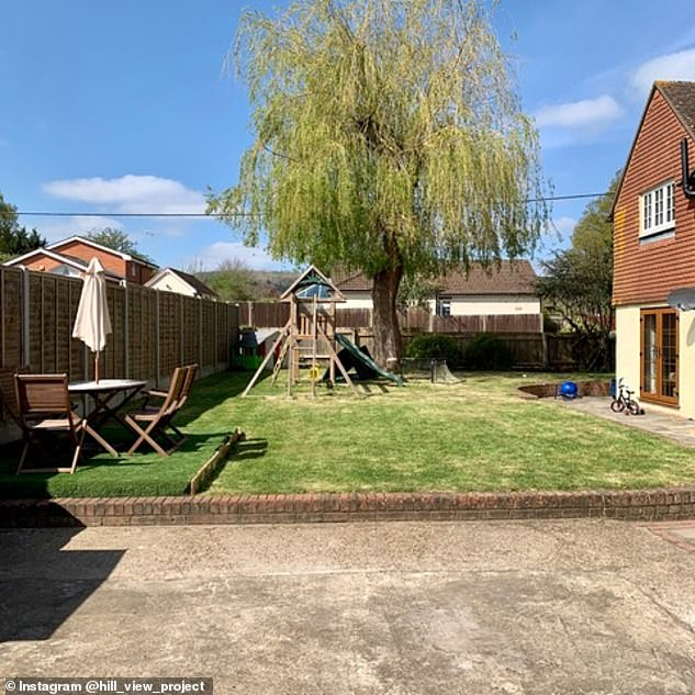 Matthew said that his project kept him busy during the coronavirus lockdown and gave him a sense of achievement. Pictured: The garden as it was before he transformed it