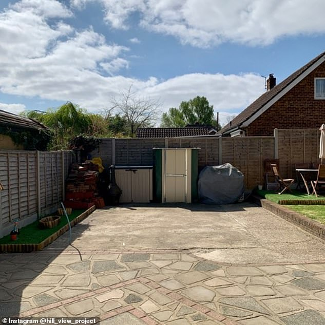 The family's patio was deemed dead space and Matthew decided to re-model it into a BBQ kitchen and decking area