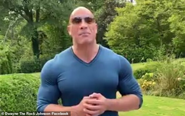 Getting political: Retired WWE wrestler Dwayne 'The Rock' Johnson made his first-ever presidential endorsement on Sunday during a virtual seven-minute chat with Democrat Joe Biden and his running mate Kamala Harris