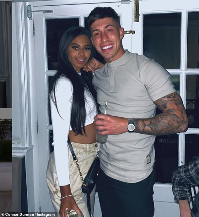 All over: Sophie and Connor Durman reportedly split just six months after leaving the villa (pictured in February)