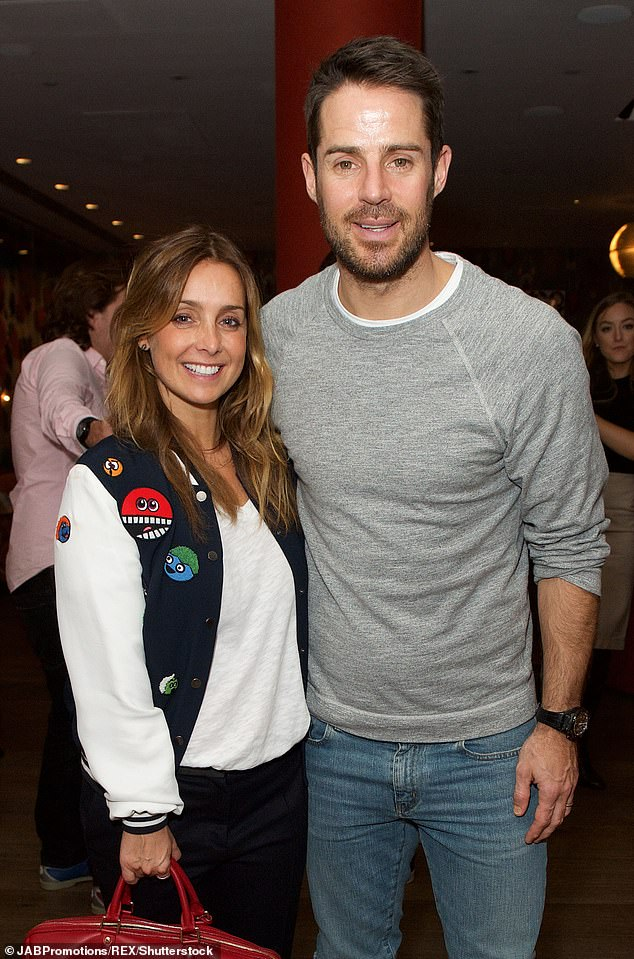 'I've never felt uncomfortable': Jamie Redknapp has revealed his friends still tease him about the so-called Strictly curse, nearly three years after his divorce from Louise (pictured in 2016)