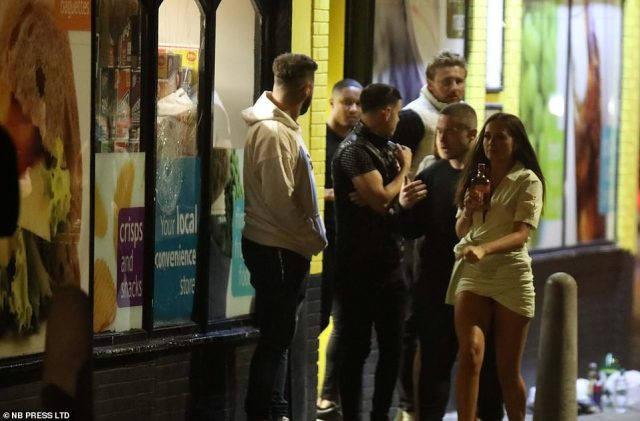 News that coronavirus cases are up around the country did not put this group off the idea of going out in Leeds on Saturday