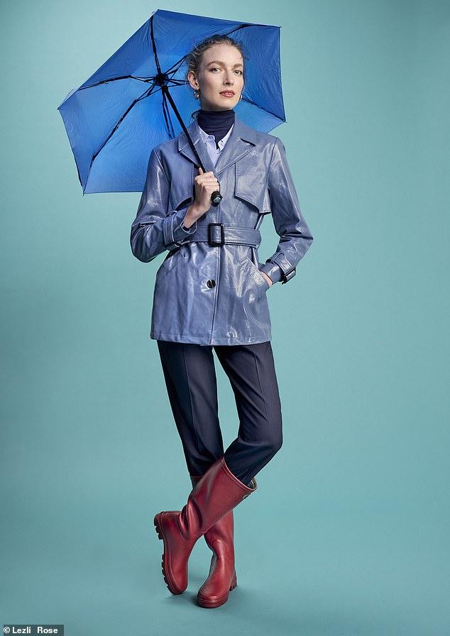 Coat, £59.99, topshop. com; shirt, £165, me andem.com; trousers, £270, cefinn.com; boots, £100, lechameau.com