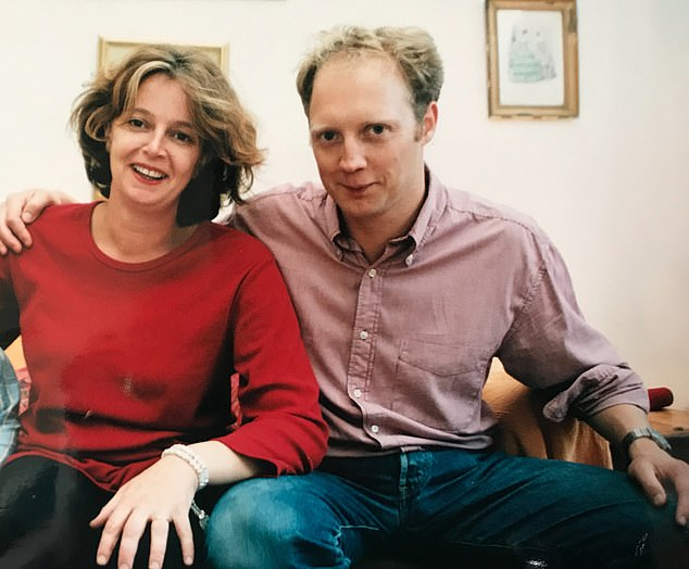 Emma who had been happily married for 15 years, said she had to examine her history of unraveling friendships. Pictured: Emma and her husband Adam