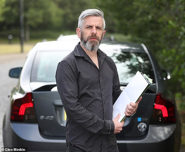Customer Iain Ross, 39, (pictured) said just a couple of hours after buying a Volvo XC70 from Alwaheeb's parent company, Crown Motor Direct, the dashboard 'lit up like a Christmas tree' to show an array of faults