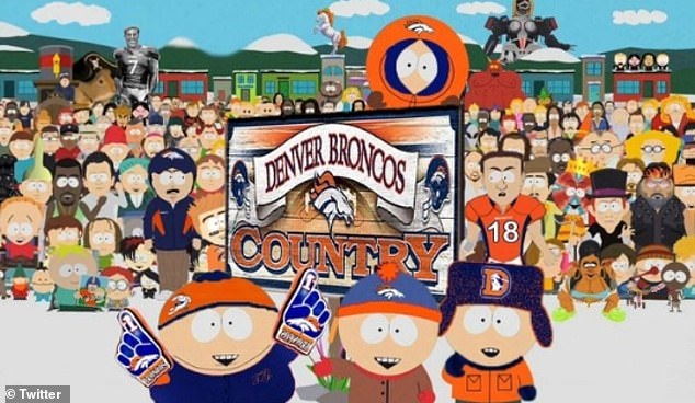 The Denver Broncos NFL team regularly feature during the show's episodes