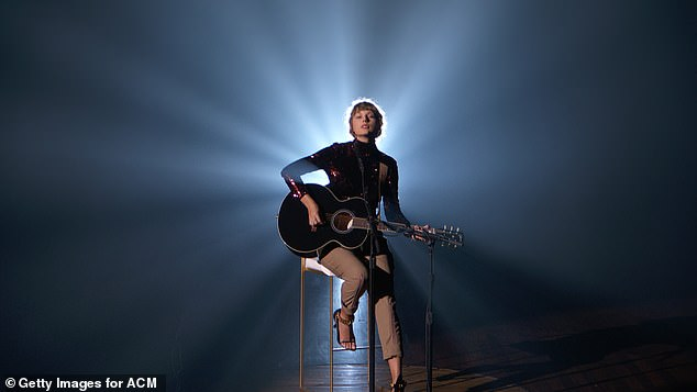 Betty:Swift's ACM performance, the first in seven-years, was released to streaming platforms and, in terms of tracking sales, had its downloads combined with the original, studio version of Betty