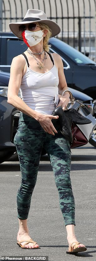 Camo leggings: The 51-year-old Chicago P.D. actress will take on the role of Megara and Keo will play the titular character from the 1997 animated flick Hercules