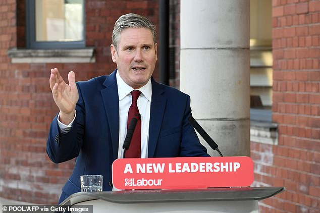 Sir Keir also pulled well ahead when voters were asked who would make the best prime minister of the two party leaders, with 36 per cent choosing the Labour leader (up four points)