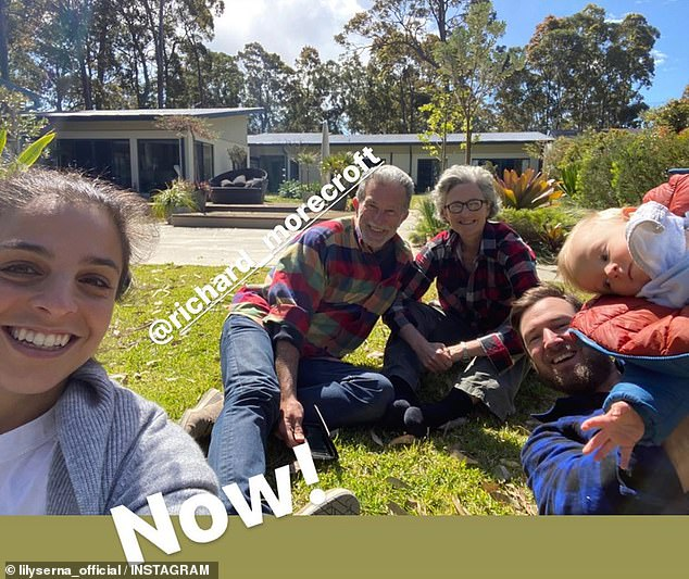 Surprise! Fans were offered a rare glimpse into Richard's retirement on Sunday when his former Letters and Numbers co-star Lily Serna (left) shared several photos to Instagram of their recent catch-up in the countryside