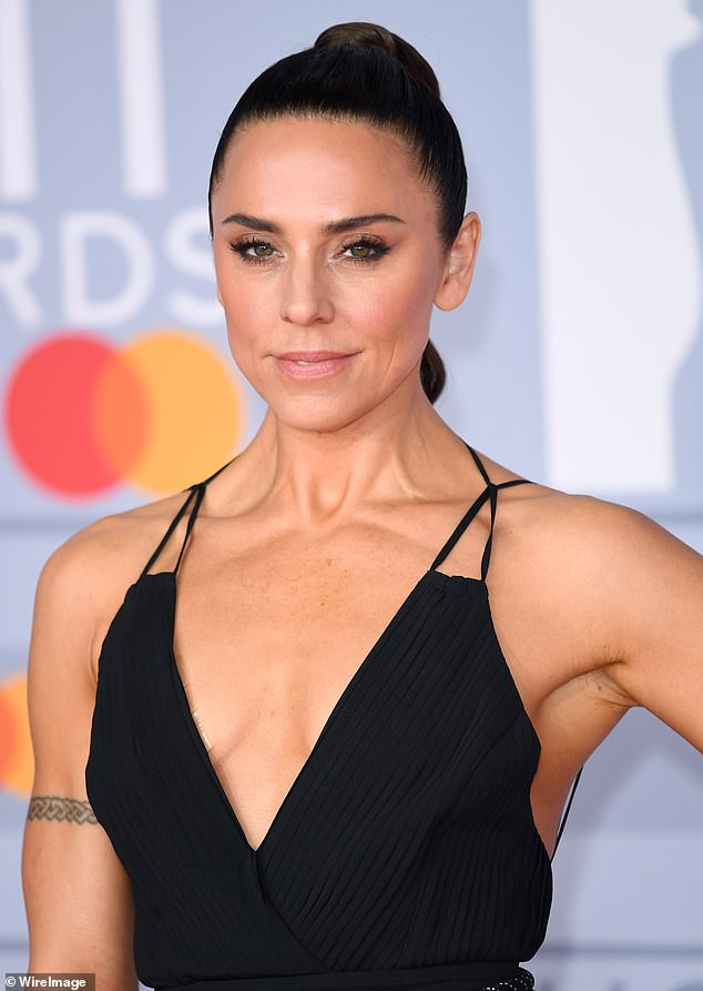 Open: Melanie C, 46, has spoken of how she 'struggled' with an eating disorder and depression after the pressures of her Spice Girls fame 'pushed her to the point of illness' on Sunday (pictured February 2020)