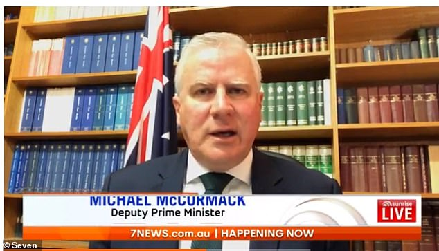 Deputy Prime Minister Michael McCormack told Sunrise it's 'not good enough' that Australians still can't travel within the country despite daily new coronavirus cases continuing to plummet