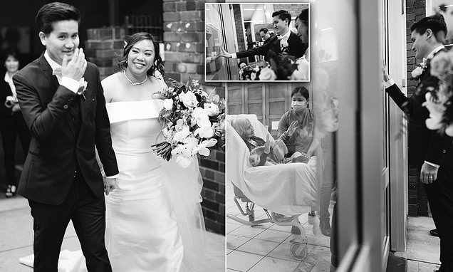 Heartbreaking moment groom sees grandparents who couldn't attend his wedding because of COVID-19 thumbnail
