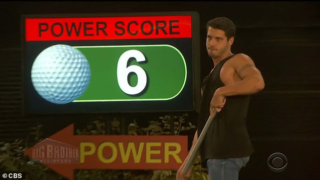 Power play:Cody had a fairly low score of six on the power green and decided to take a second shot to improve his score and got the lowest score of two