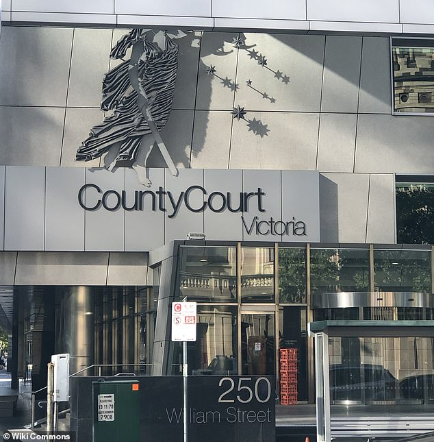 In the County Court of Victoria (pictured) on Monday, the parents - age 32 and 34 - were spared jail after pleading guilty to negligently causing serious injury