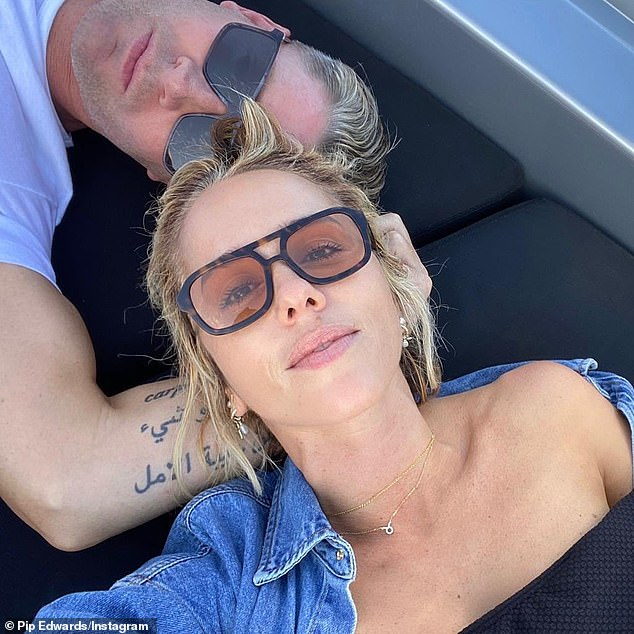 All aboard the love boat! While Pip may need to work on her grocery-balancing skills, she's currently enjoying a perfectly-matched romance with Michael Clarke. Pictured together