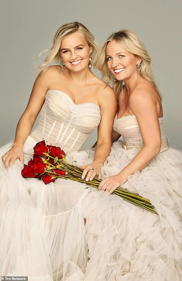 'I was casually dating someone before the show': Becky said she wasn't in a relationship but had been casually dating some before filming the show. Pictured Becky (right) and her sister Elly (left)