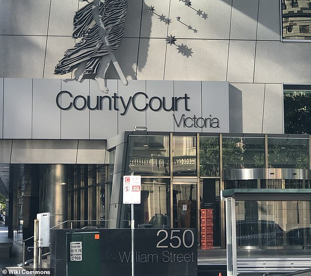 Michael Yates, a 32-year-old bricklayer who was returning from work, suffered 'catastrophic' injuries, Judge Kevin Doyle told the Victorian County Court (pictured) on Monday