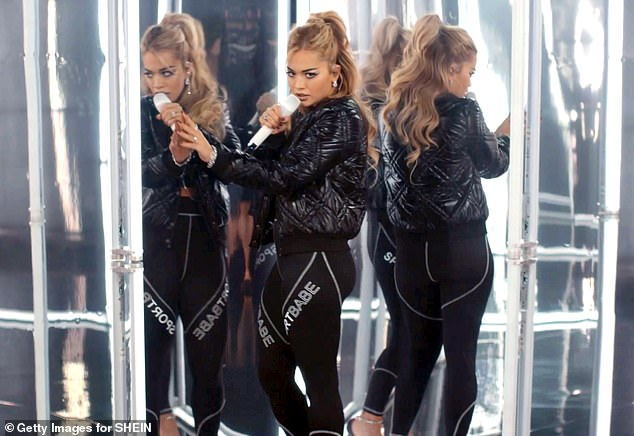 Superstar:It comes after Rita returned to her performing best as she performed her hit single Anywhere during SHEIN Together's Walk Your Wonderful A/W virtual show last week