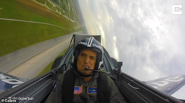 Alex Kowtun, from West Palm Beach in Florida, lost consciousness for a few seconds during a high-speed manoeuvre in an Aero L-39 Albatros fighter-jet trainer