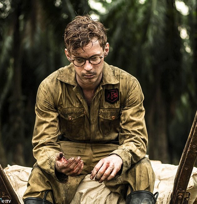 In the second episode of the drama, much of the focus is on the team running military operations. They dismissed the approach of the Japanese before being left cowering under the table when the threat materialised. Pictured, Luke Treadaway as Matthew Webb