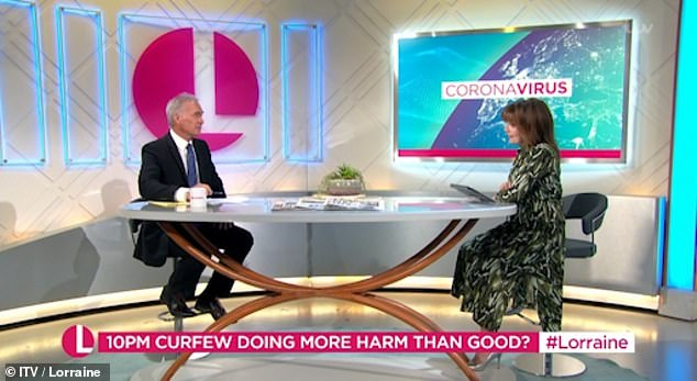 Speaking on her morning show on Monday, the Scots presenter, 60, ranted to Dr Hilary Jones: 'I was fuming at the weekend! The protests! I absolutely would love to take these people by the hand and show them the reality [of COVID-19 ]!'