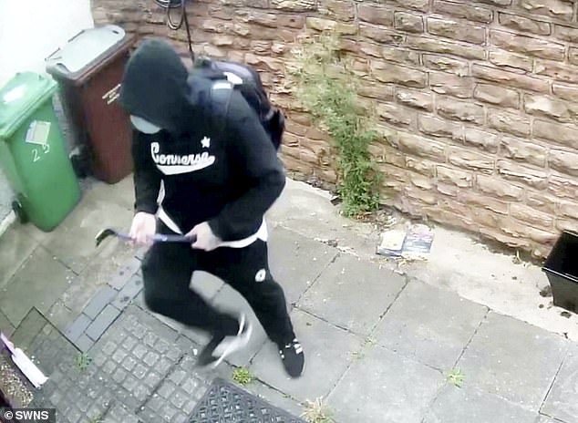 Raymond Ward and Marcus McKenzie used a crowbar (above) to break into a family's homein The Meadows, Nottingham, during the early hours of July 28 this year