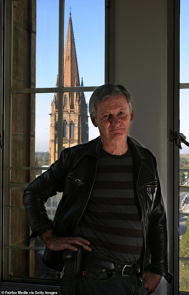 Career change: Beloved children's author Paul Jennings spoke about what led to his decision to become a professional writer at the age of 40. Pictured at his home in Melbourne in May 2005