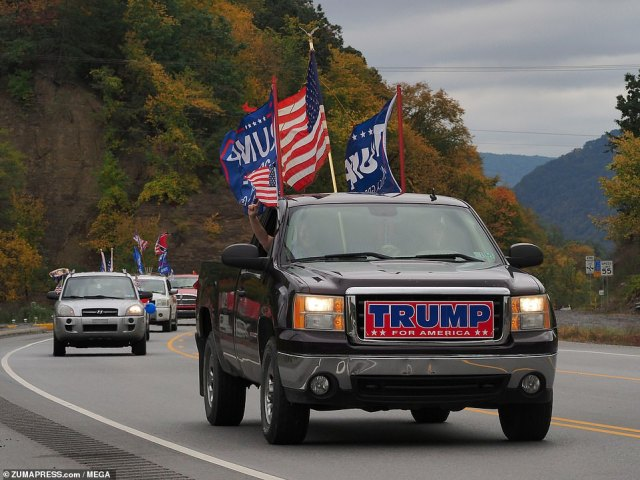 The 'Trump Train' rolled through town before taking to some of the Pennsylvania country roads