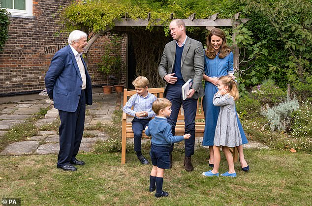 Sir David Attenborough gave Prince George a fossilized giant shark tooth to mark their first meeting at Kensington Palace, after discovering the young royal was a 'big fan'