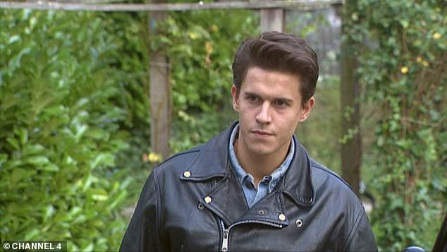 Young star: Kurt appeared in the first episode of the Channel 4 show in 1995 where he arrived on a motorbike and went onto play an iconic role in the soap