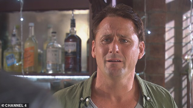 Shock: Kurt will star in the 25th anniversary trailer, set to air on Tuesday, leaving his friend Tony Hutchinson, Nick Pickard (pictured), gobsmacked after he was believed to have died in a jet ski accident