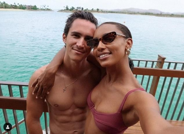 Mr Right: The pair who have been dating for four years have plans to wed in Borrero's hometown of Ecuador. The couple were first introduced by mutual friends and began dating in 2016