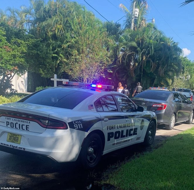 The witness, who just happened to be passing by the swank home, said: 'I was on the phone to a friend when I noticed this woman coming towards me with virtually nothing on, just her bathing suit'