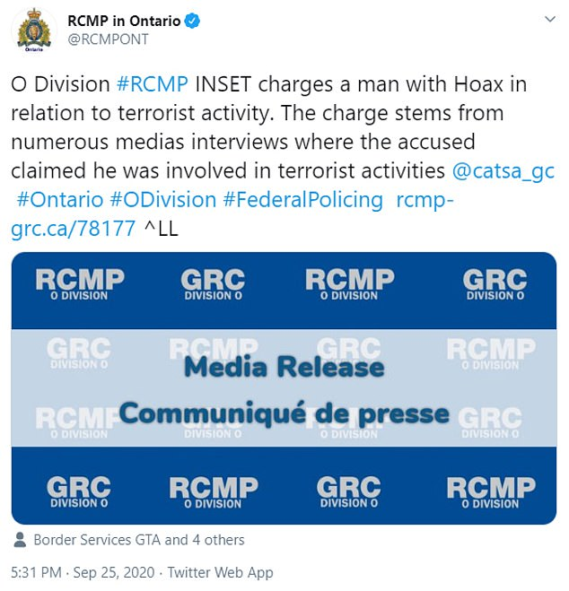 Charges against Chaudhry were announced on Friday by Canadian police