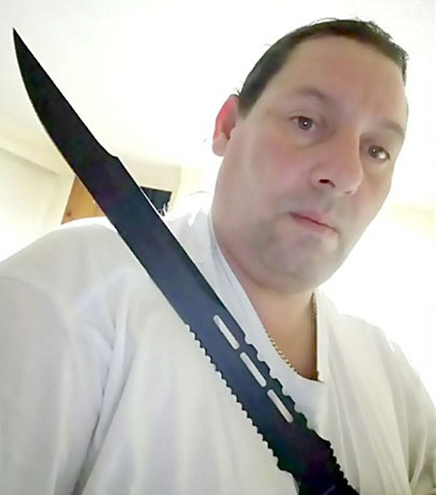 The trial of Adam Strong, 47, pictured, accused of murdering and dismembering two women got underway Monday in Oshawa, Ontario