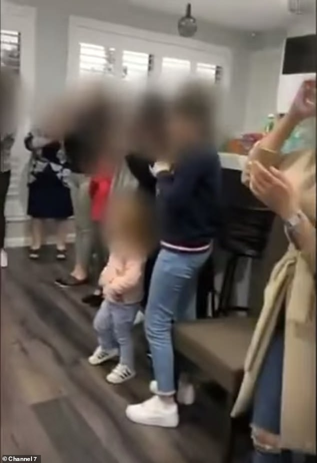 At least 40 people gathered for a family birthday party (pictured) in Hoppers Crossing in Melbourne's south-west on Sunday.Several people tried to run away when police arrived but 15 people were caught and fined on the spot
