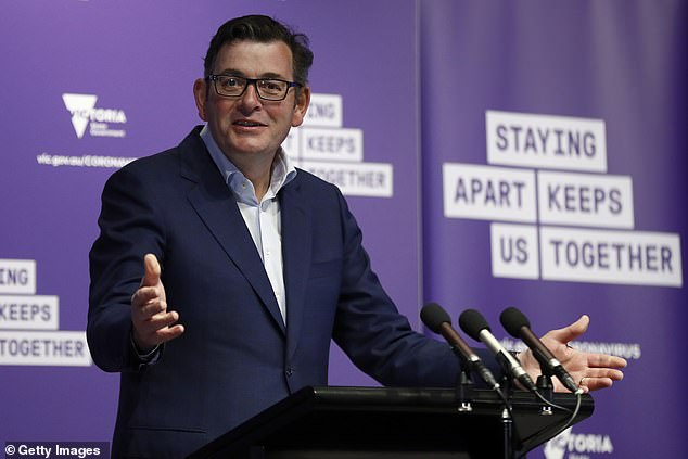Victorian Premier Daniel Andrews (pictured) said people who contract COVID-19 at unlawful gatherings will not be fined if they agree to cooperate with contact tracers. He said a positive diagnosis and information 'is worth infinitely more than $5,000'
