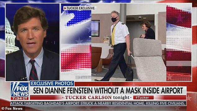 PICTURED: Democratic Sen. Dianne Feinstein is seen walking through Washing DC airport without a mask - Internewscast
