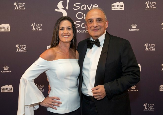 Mario Verrocchi (pictured withFiona Verrocchi)has bought Mount Eliza's waterfront Morning Star Estate for an estimated $40million