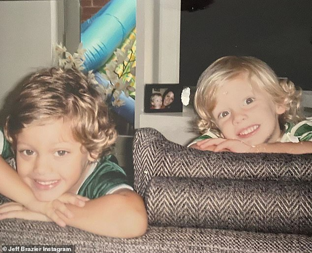 Brothers: There was also a picture of him with his sibling Bobby, (left)