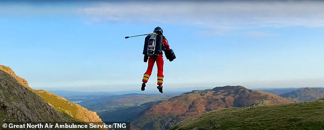Mawson explained that if someone had a cardiac arrest at the top of Helvellyn they could have a defibrillator to them within eight minutes using a jet pack