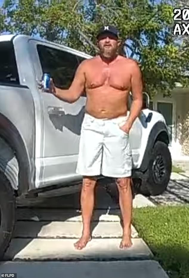 Police raced to Brad Parscale's Fort Lauderdale, Florida home Sunday afternoon after his wife Candice ran into the street screaming, trying to get help. A Good Samaritan bundled Candice into her car and dialed 911. Pictured: Parscale shortly before he was detained by police