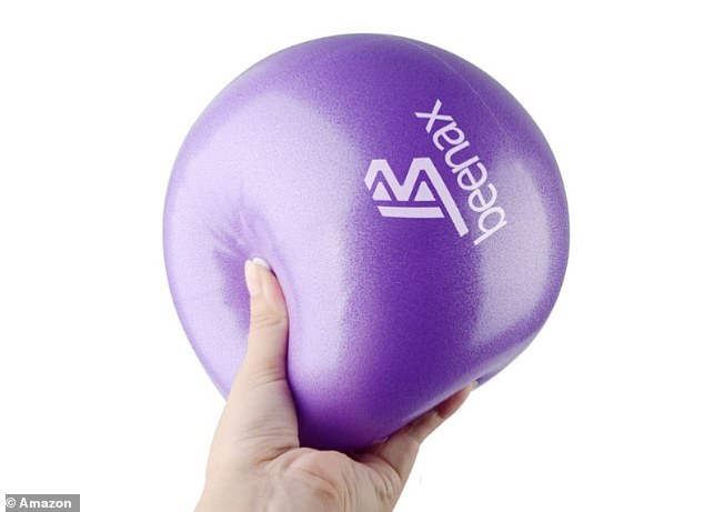 The small exercise ballhelps to improve stability, maximises strength and also strengthens the core muscles