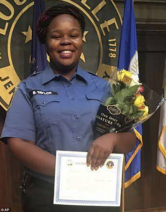 Killed: Breonna Taylor, 26, was shot and killed by Louisville police on March 13, only one of the three cops involved has been charged